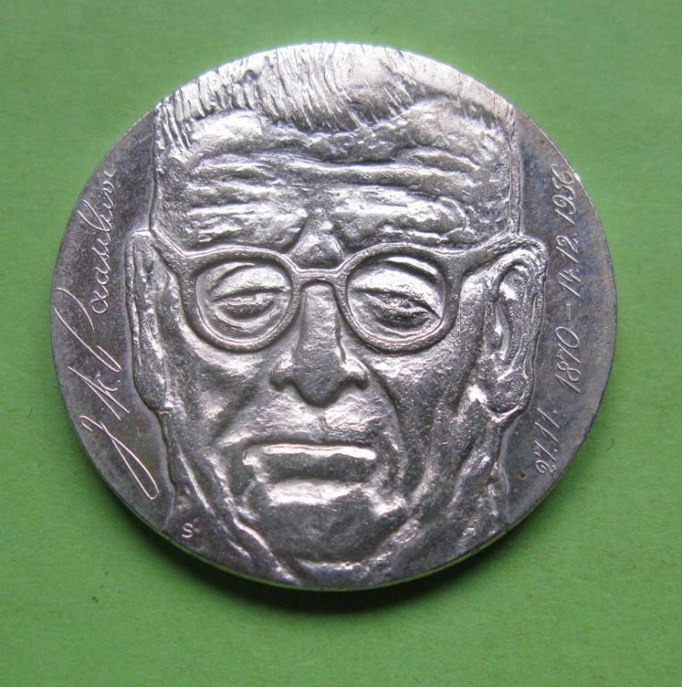 Фінляндія 10 марок 1970 р. 100 років з дня народження президента Юхо Паасіківі UNC.