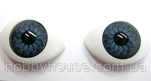 """Глазки """"живые""""для кукол , пластиковые,рыбки,серые ,8х10 мм"""