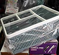 Подставка органайзер на 4 секции для кистей и пилок, для бутылочек, и др.инструмента, цвета в ассортименте, фото 1