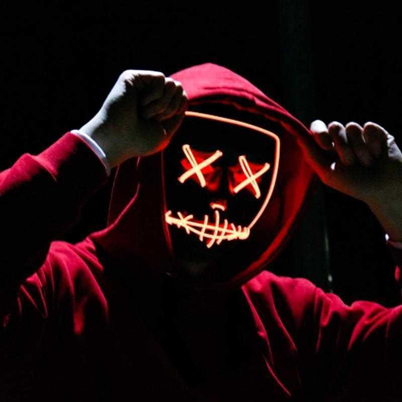 """Неоновая маска """"Судная ночь"""" светящаяся Led Mask"""