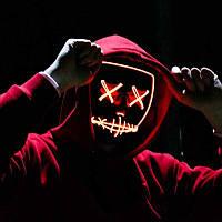 """Неоновая маска """"Судная ночь"""" светящаяся Led Mask, фото 1"""