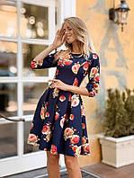 Элегантное платье в цветочный принт, фото 1
