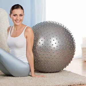 Мяч для фитнеса с шипами 55 см-М0279