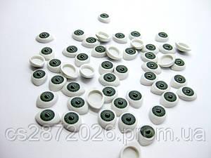"""Глазки """"живые""""для кукол , пластиковые,рыбки,зеленые,8х10 мм( 10 шт )"""