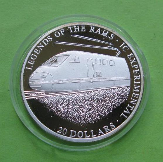 Либерия 20 долларов 2001 г. Легенды железных дорог , поезд IC EXPERIMENTAL