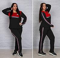 Спортивный костюм женский Двунитка Размер 48 50 52 54 56 58 60 62 64 В наличии 6 цветов, фото 1