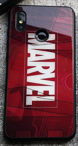 Чехол Case Glass Marvel / Закаленное стекло МАРВЕЛ для Apple IPhone X