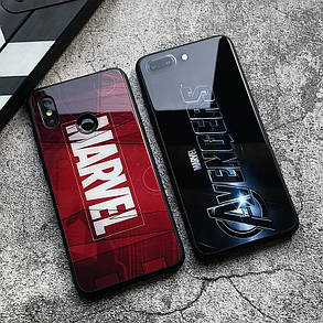 Чехол Case Glass Marvel / Закаленное стекло МАРВЕЛ для Apple IPhone X, фото 2