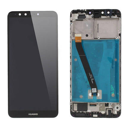 Дисплей (экран) для Huawei Y9 2018 FLA-LX1 с сенсором (тачскрином) и рамкой черный Оригинал, фото 2