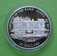Либерия 20 долларов 2001 г. Легенды железных дорог , поезд ALCO`S BO`BO`