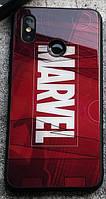 Чехол Case Glass Marvel / Закаленное стекло МАРВЕЛ для Apple IPhone Xr