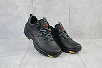 Мужские кроссовки кожаные весна/осень черные Storm RZ- TV
