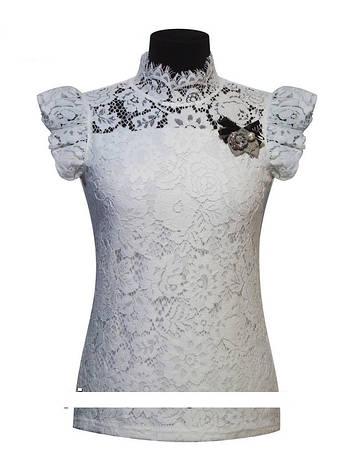 Детская школьная блуза для девочки с коротким рукавом от BEAR RICHI 782295   122-158р., фото 2