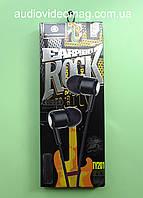 Гарнитура ROCK, штекер 3.5мм (4pin), цвет - черный, для всех телефонов