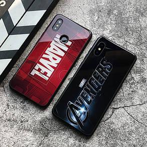 Чехол Case Glass Marvel / Закаленное стекло МАРВЕЛ для Apple IPhone 5/5S/SE, фото 2