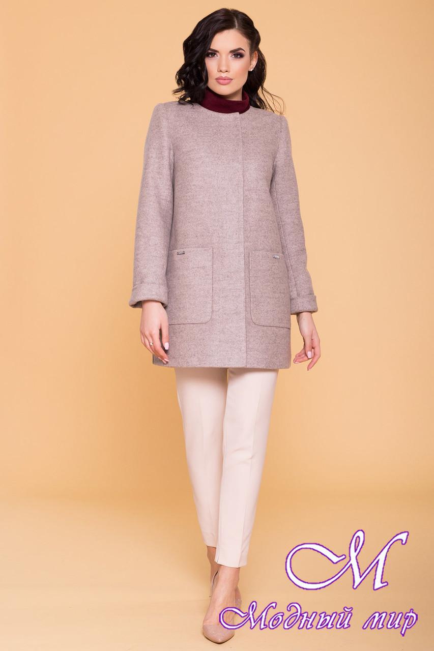 Женское демисезонное пальто в бежевых оттенках (р. S, M, L) арт. Ажен 6293 - 41075