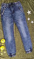 Модные джинсы на мальчика на резинке-утяжке, р. 140, 140, 152, 152, 152, 164, темно синий, фото 1
