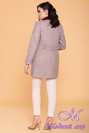 Женское демисезонное пальто в бежевых оттенках (р. S, M, L) арт. Ажен 6293 - 41075, фото 2