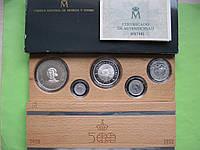 Испания набор 1989 г. Открытие Колумбом Америки (5 монет) , серебро 52,3 гр., фото 1