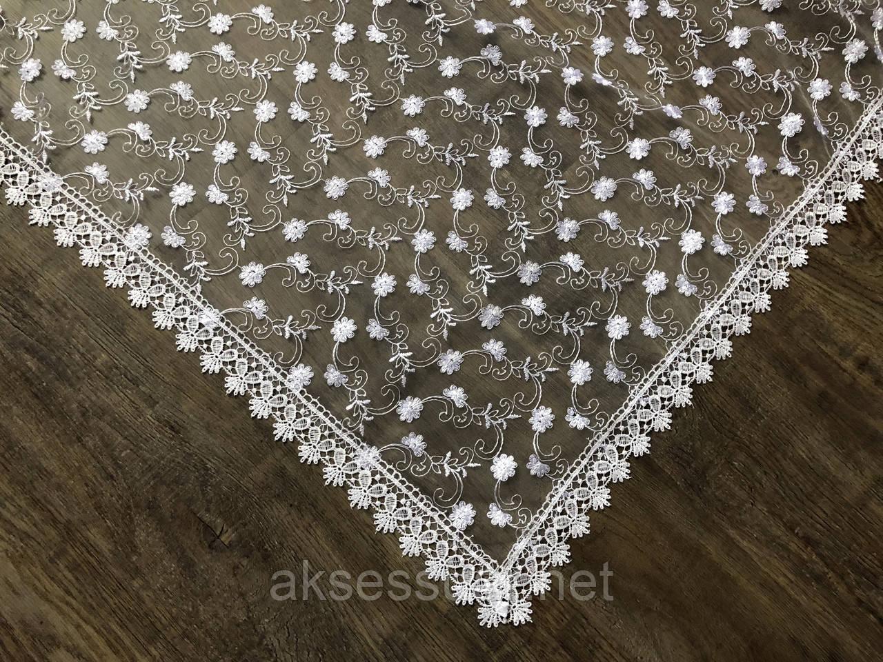 Свадебный белый платок