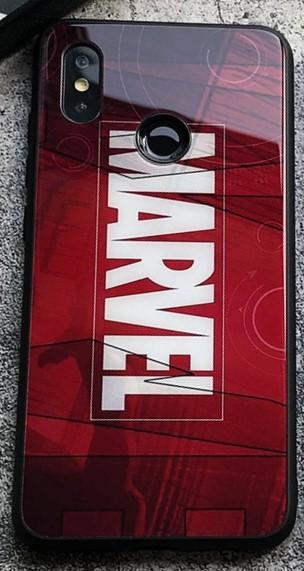 Чехол Case Glass Marvel / Закаленное стекло МАРВЕЛ для Apple IPhone XS Max