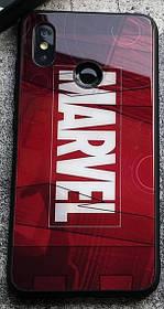 Чехол Case Glass Marvel / Закаленное стекло МАРВЕЛ для Apple IPhone Xs