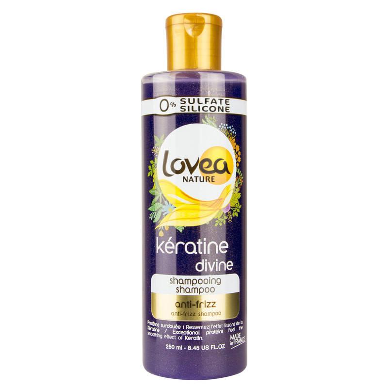 Шампунь з кератином Lovea Keratine Divine Shampoo Anti-frizz, 250 мл, фото 2