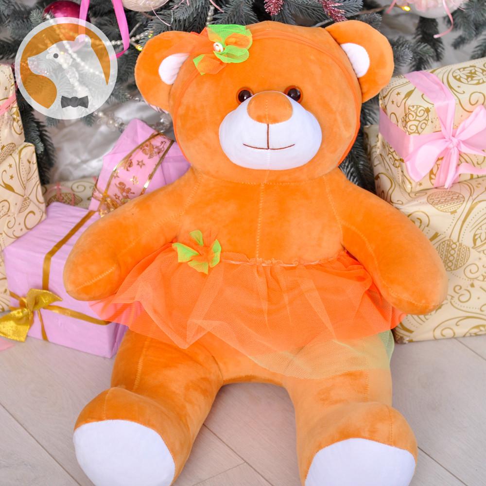 Мишутка-балерина, 85 см, оранжевая