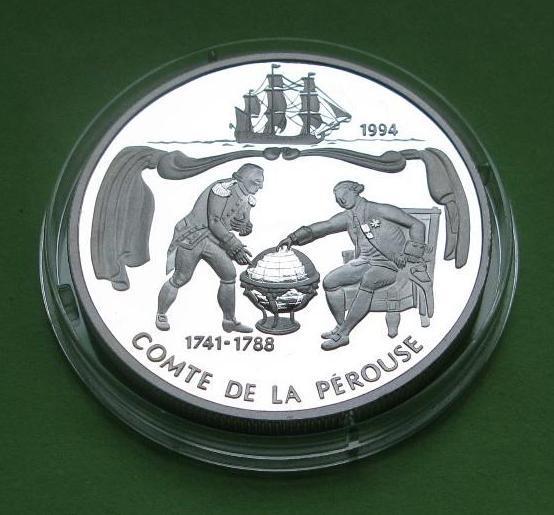 Самоа и Сисифо 10 долларов 1994 г. Парусник /корабль . Серебро 31,47 гр