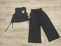 Комплект жилет+кюлоты, р. 134-158, черный