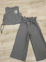 Комплект жилет+кюлоты, р. 134-158, серый