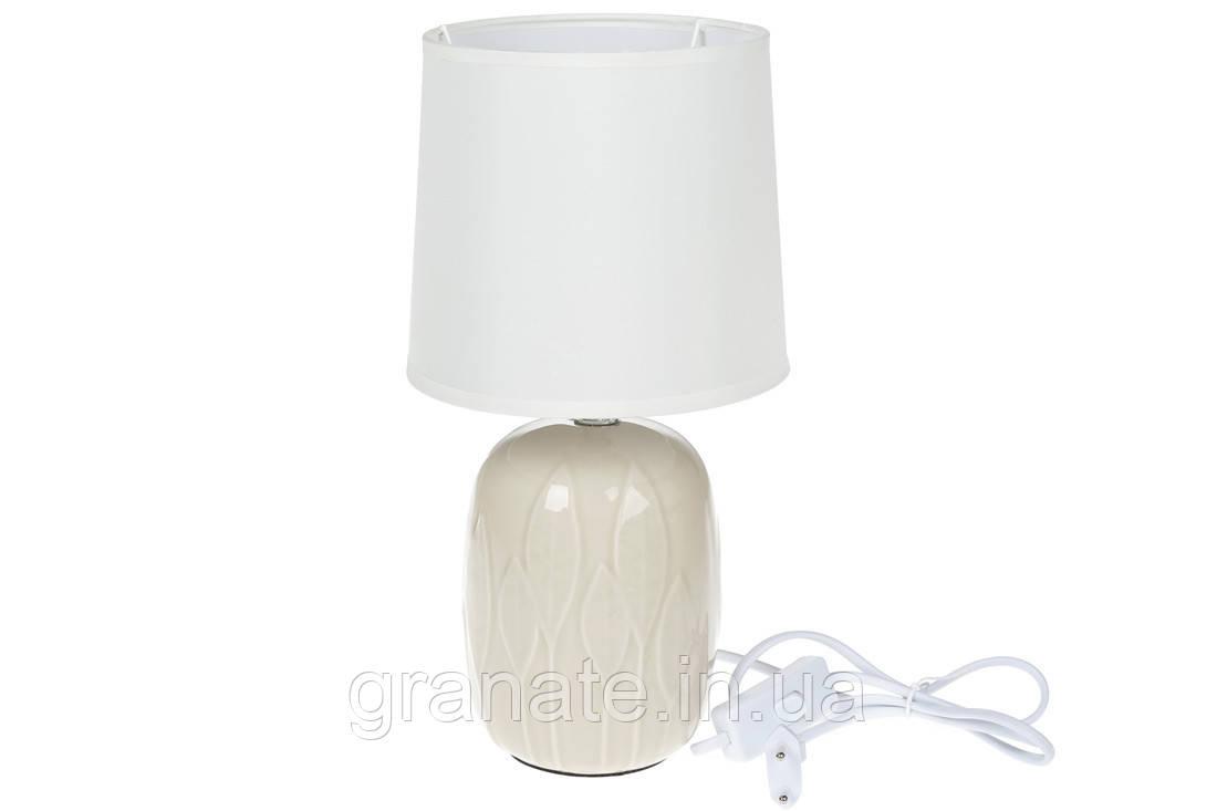 Настольная лампа, ночник  31 см, цвет: свелый крем