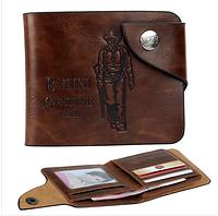 Кожаный мужской кошелек, портмоне, бумажник  .ЕК79-2