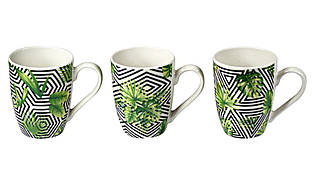 Чашка пальмовые листья