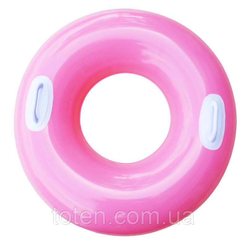 Надувний круг з ручками Intex 59258 Рожевий (76 см)