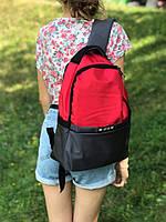 Женский повседневный рюкзак (красно-серый)
