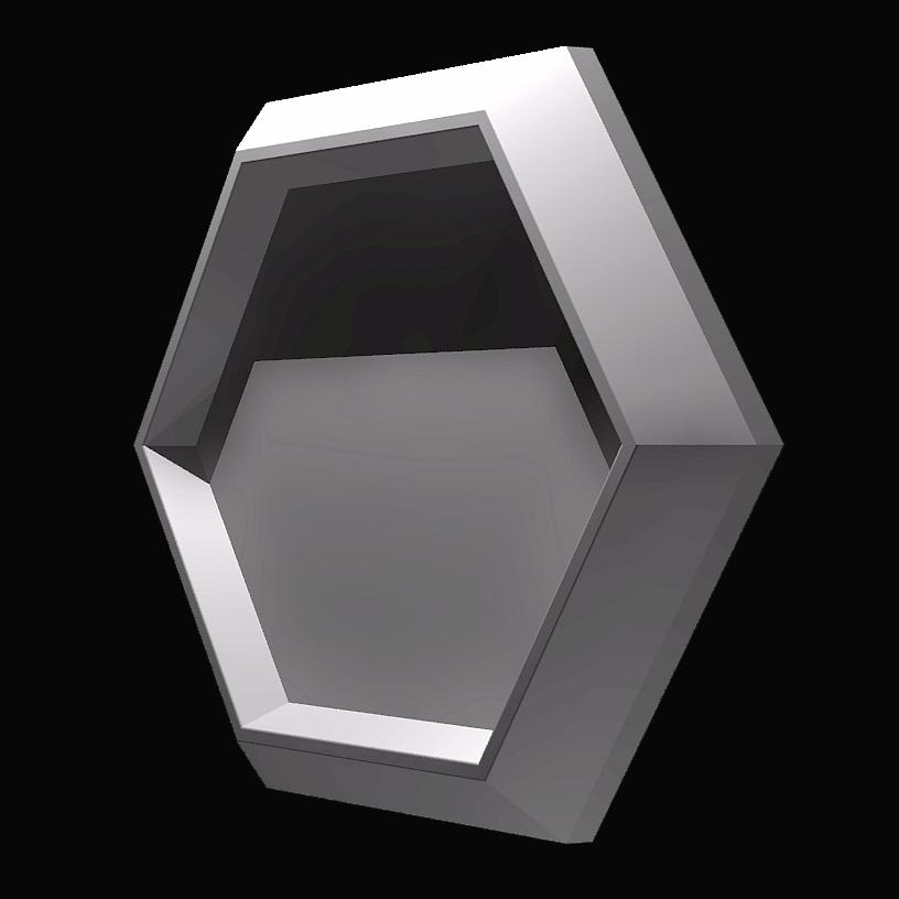 """Форма """"Стоун №3"""" для шестигранной декоративной гипсовой плитки под мох"""