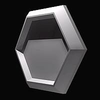 """Форма """"Стоун №3"""" для шестигранной декоративной гипсовой плитки под мох, фото 1"""