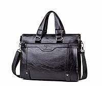 Мужская сумка-портфель под формат А4  Черная КС21