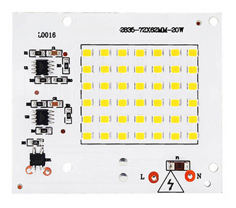 Светодиодный модуль 2835 20 Вт 220 в белый, фото 2