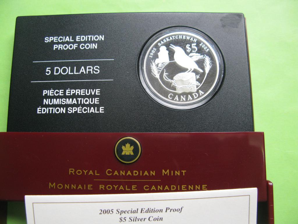 Канада 5 доларів 2005 р. Фауна - птах.