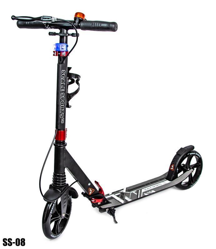 Cамокат Scale Sports для подростков и взрослых  (от 5 лет, до 100 кг) чёрный