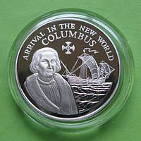 Ямайка 10 доларів 1990 р. Вітрильник ,корабель.
