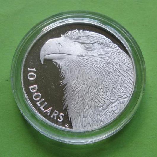 Австралія 10 доларів 1994 р. Фауна - орел.