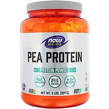 """Гороховый протеин NOW Foods, Sports """"Pea Protein"""" без добавок (907 г)"""
