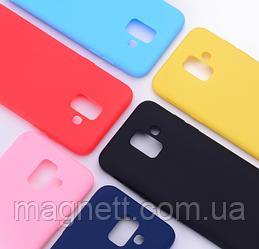 Силиконовый чехол Silicone Cover с микрофиброй для Samsung А605 Galaxy А6