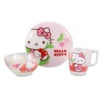 Набор детский LUMINARC HELLO KITTY CHERRIES X3 предмета