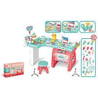 """Игровой набор """"Доктор"""" 660-61, стол 90-77-47см, инструменты, 27  предметов,звук,свет,бат"""