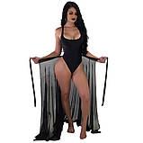 Модная пляжная юбка-парео,ткань шифон,размеры:42-46., фото 2