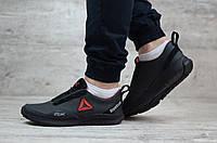 👣Мужские кожаные кроссовки Reebok, (весна-осень, мужские, кожа, черные)